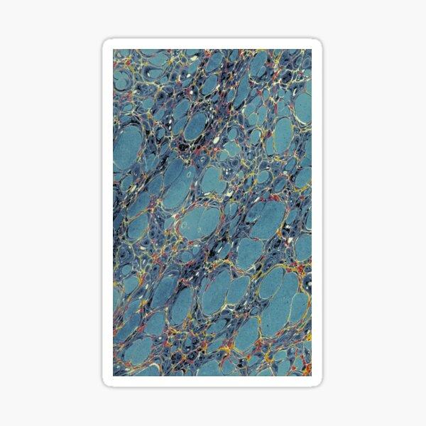18th century marbled pattern Sticker