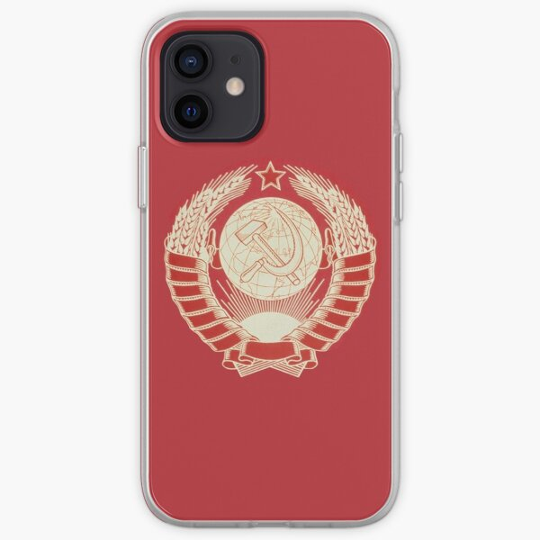 State Emblem of the USSR stylized iPhone Soft Case