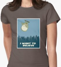 """""""I Want to Believe"""" Totoro  T-Shirt"""