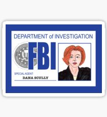 Agent Dana Scully Sticker