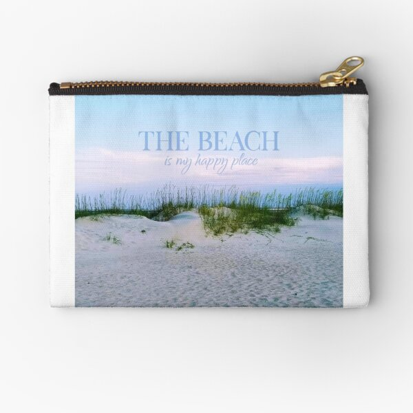 The Beach is my happy place Zipper Pouch