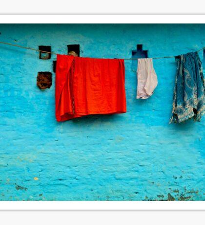 Blue Wall Hangings Sticker