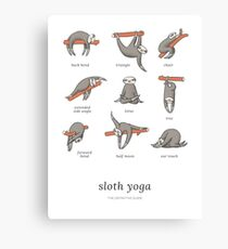 Sloth Yoga - The Definitive Guide Canvas Print