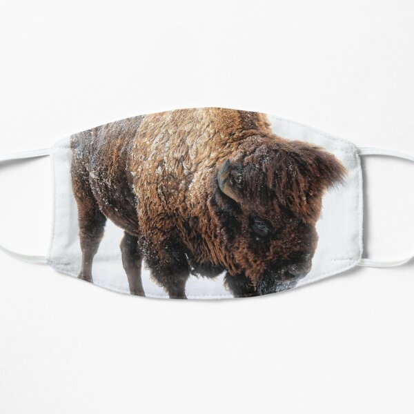 American Bison In Snow  Mask