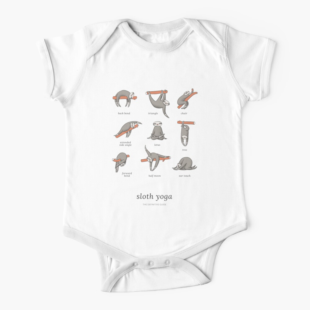 Sloth Yoga - The Definitive Guide Baby One-Piece
