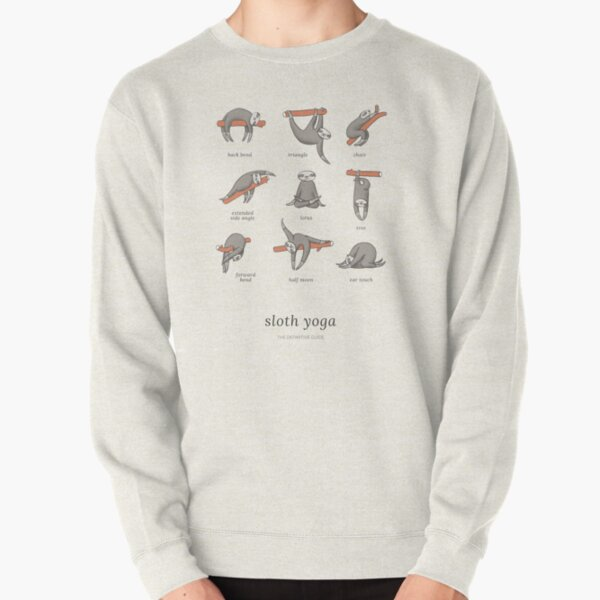 Sloth Yoga - The Definitive Guide Pullover Sweatshirt