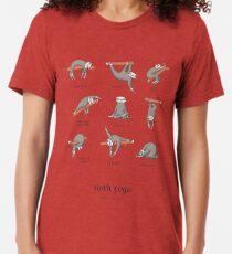 Sloth Yoga - The Definitive Guide Tri-blend T-Shirt