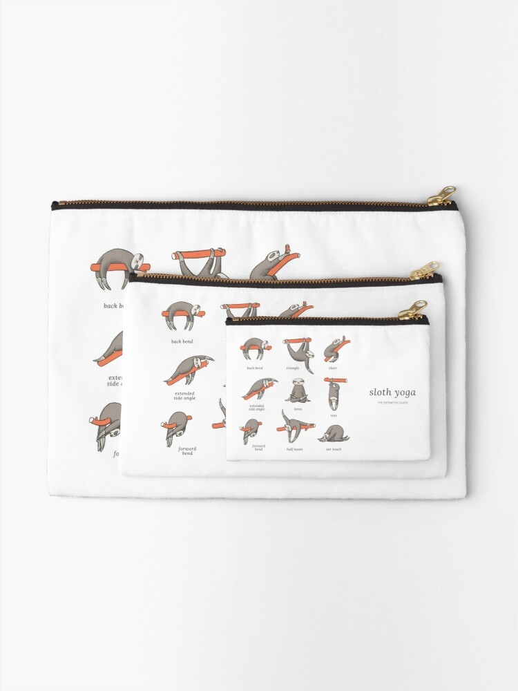 Alternate view of Sloth Yoga - The Definitive Guide Zipper Pouch