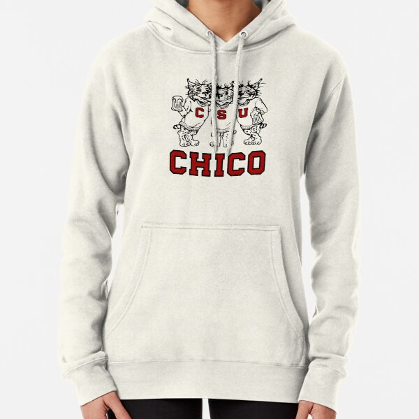 Chico State Vintage Drinking Wildcats Logo From The 1970's / 1980's Pullover Hoodie