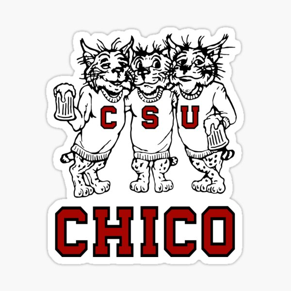 Chico State Vintage Drinking Wildcats Logo From The 1970's / 1980's Sticker