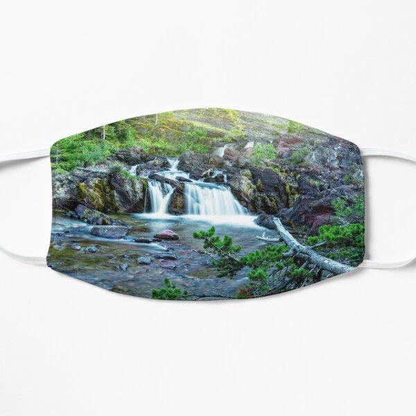 Red Rock Falls, Glacier National Park, Montana Flat Mask