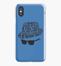 106 Miles to Chicago  The Blues Brothers iPhone Case/Skin