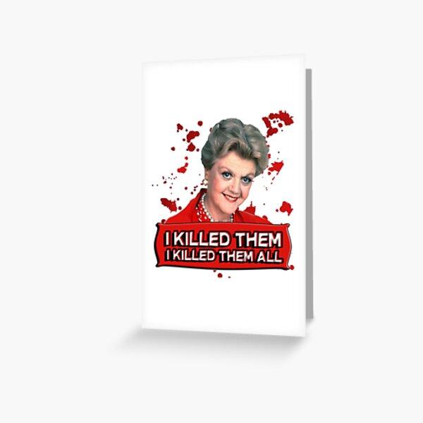 Jessica Fletcher Murder She Wrote Angela Lansbury Anniversaire Carte De Vœux