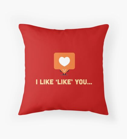 Character Building - 'Like' Like Throw Pillow