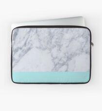 Blauer Marmor Laptoptasche