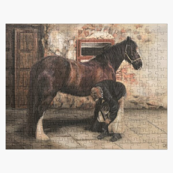 Horse Painting Vintage Farrier Jigsaw Puzzle