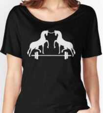 Unicorns Frolicking Over A Barbell Women's Relaxed Fit T-Shirt