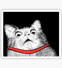 Surprised Cat Rage Face Sticker