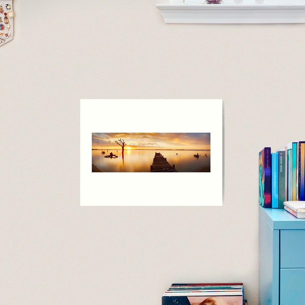 Lake Charm, Kerang, Victoria, Australia Art Print