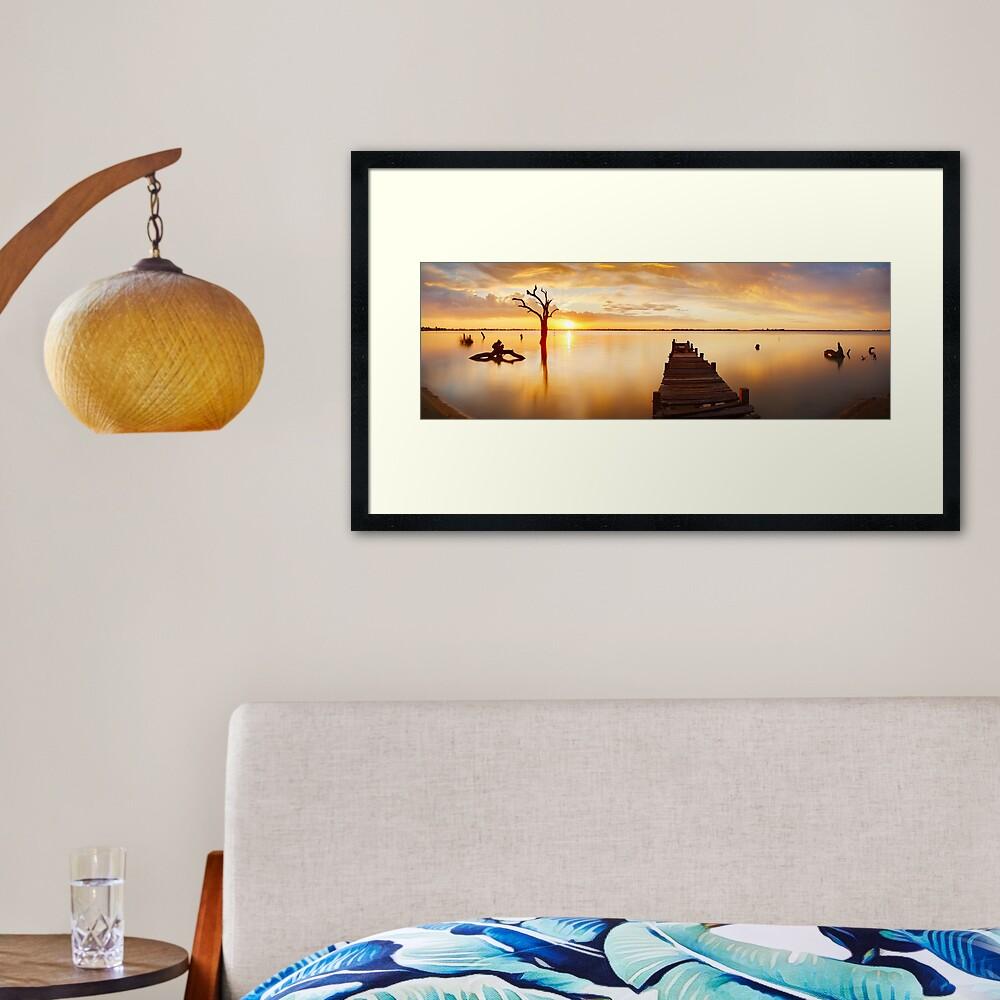 Lake Charm, Kerang, Victoria, Australia Framed Art Print