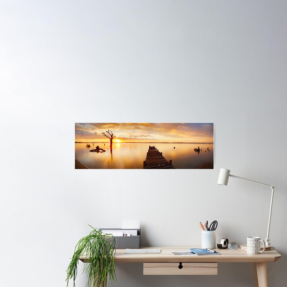 Lake Charm, Kerang, Victoria, Australia Poster