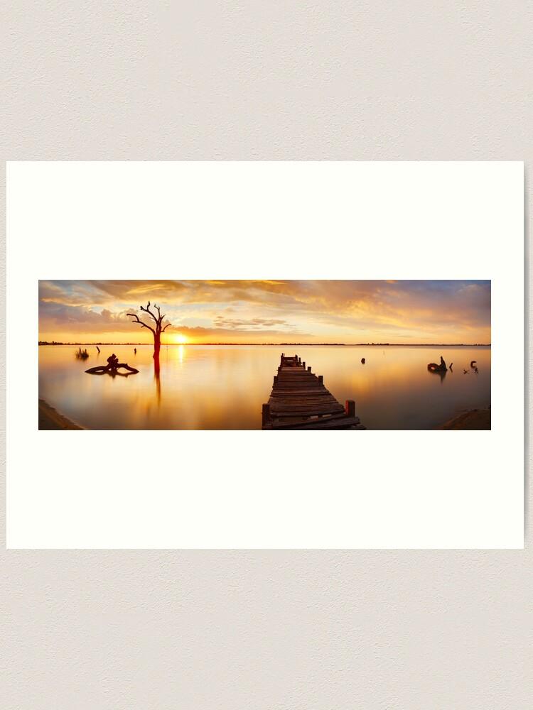 Alternate view of Lake Charm, Kerang, Victoria, Australia Art Print