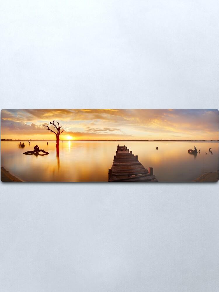 Alternate view of Lake Charm, Kerang, Victoria, Australia Metal Print
