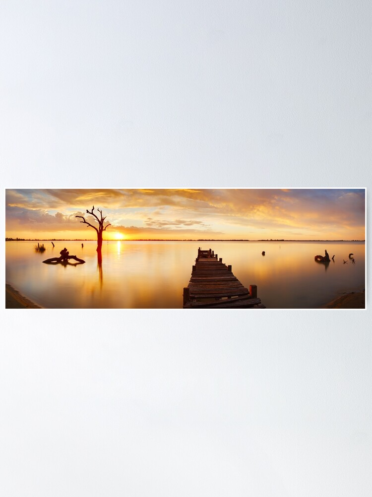 Alternate view of Lake Charm, Kerang, Victoria, Australia Poster