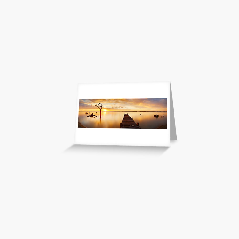Lake Charm, Kerang, Victoria, Australia Greeting Card