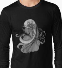 Glamour Girl pencil drawing Long Sleeve T-Shirt
