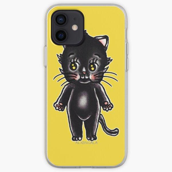 Black Cat Kewpie iPhone Soft Case
