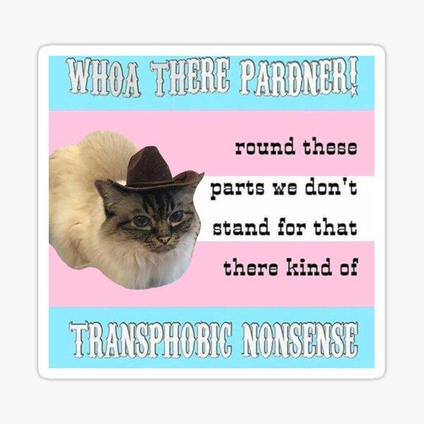Primcess Pamcake - Gato vaquero de derechos trans Pegatina