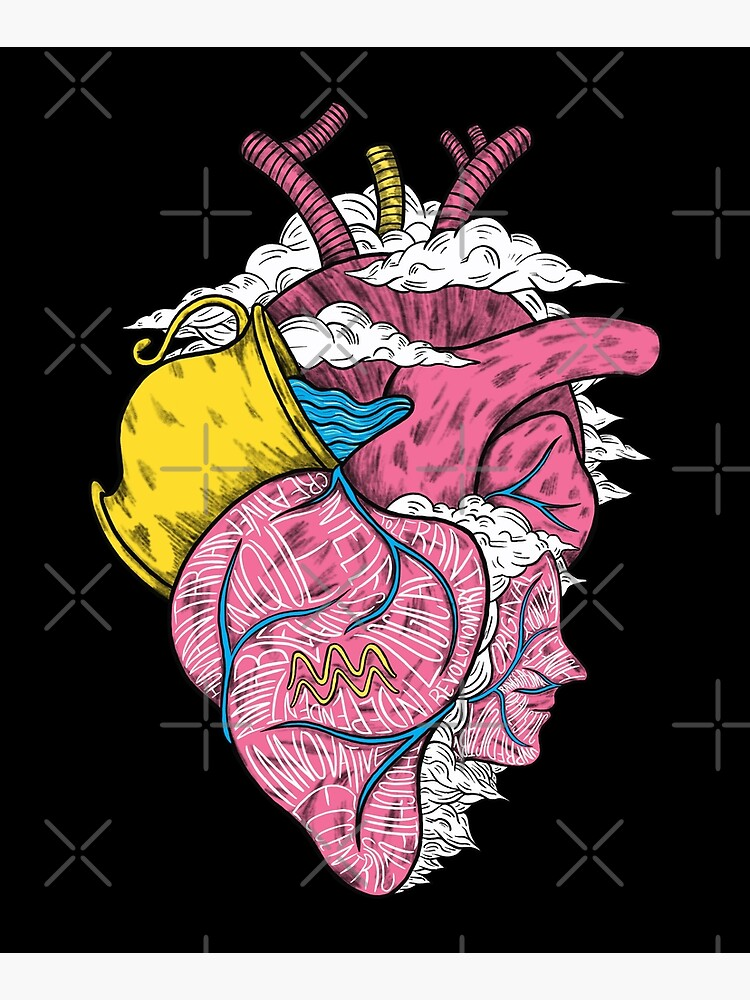 Aquarius Heart (Black) by Ranggasme