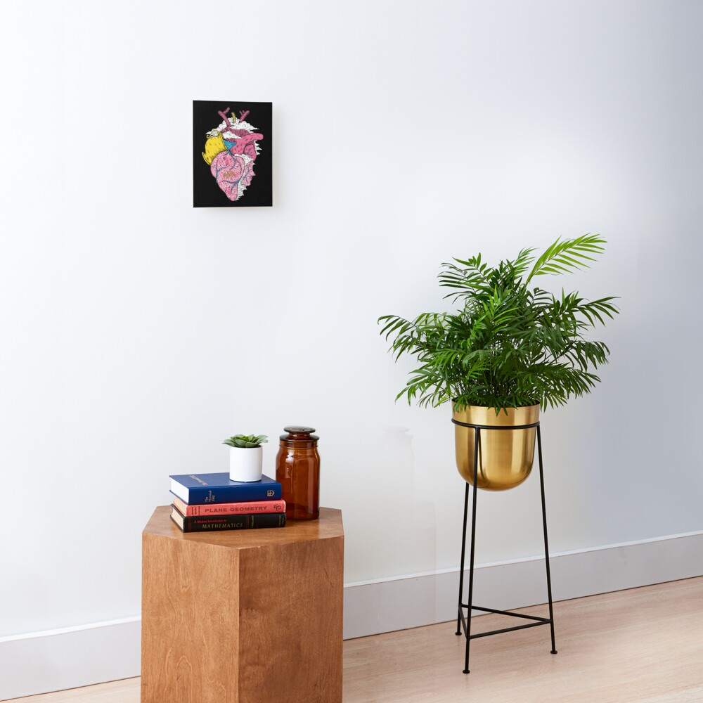Aquarius Heart (Black) Mounted Print