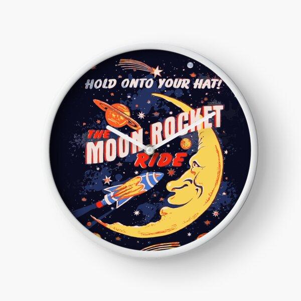Rocket Moon Ride (vintage) Clock
