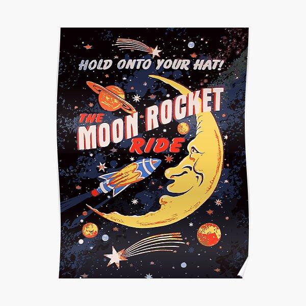 Rocket Moon Ride (vintage) Poster