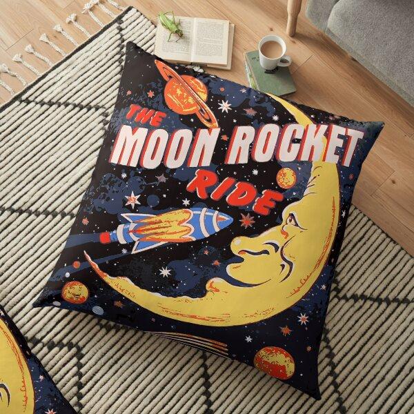 Rocket Moon Ride (vintage) Floor Pillow