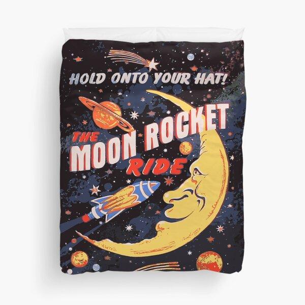 Rocket Moon Ride (vintage) Duvet Cover