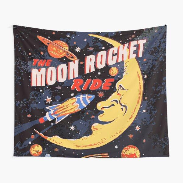 Rocket Moon Ride (vintage) Tapestry