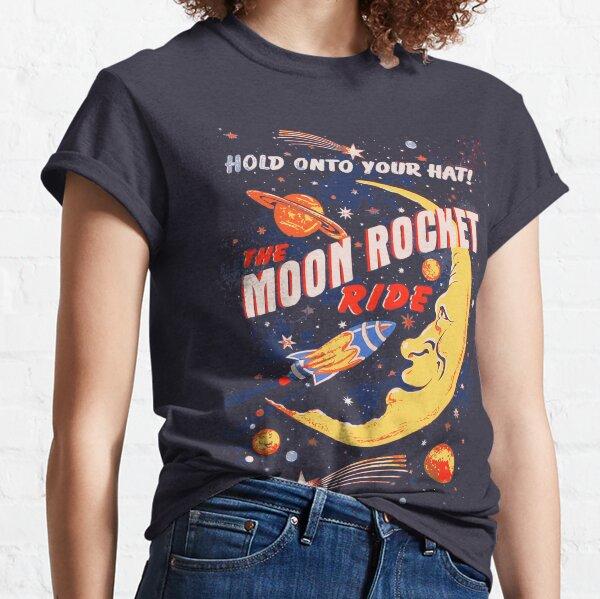 Rocket Moon Ride (vintage) Classic T-Shirt