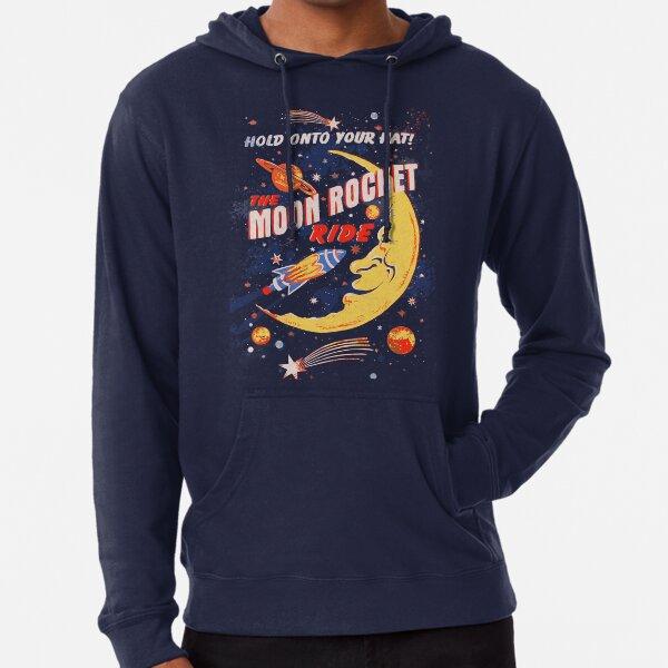 Rocket Moon Ride (vintage) Lightweight Hoodie