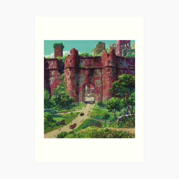 Mononoke Castle Art Print