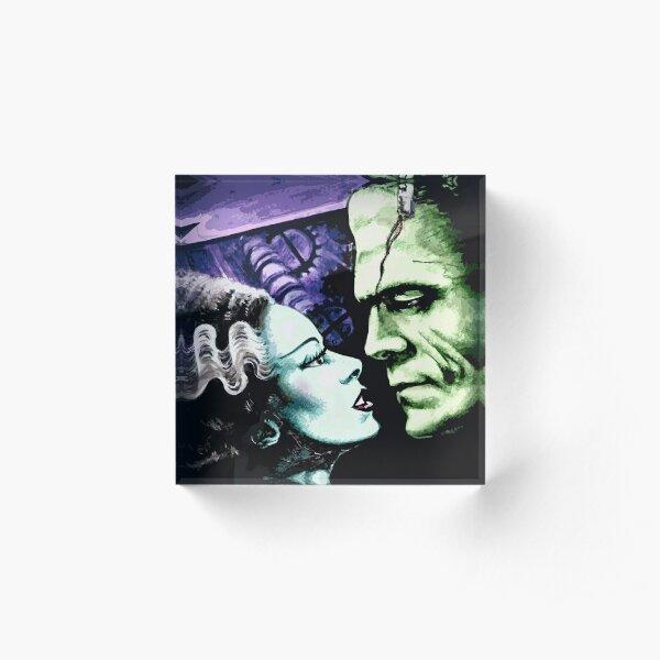 Bride & Frankie Monsters in Love Acrylic Block