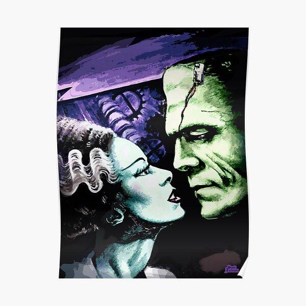 Bride & Frankie Monsters in Love Poster