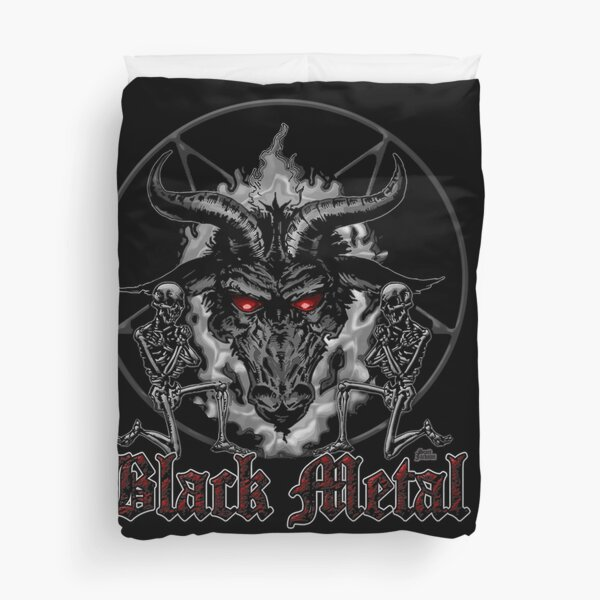Black Metal Music Baphomet Pentagram Duvet Cover