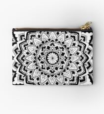 Black and White Mandala Studio Pouch