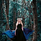 She walks with the spirit of the woods by Angi Wallace