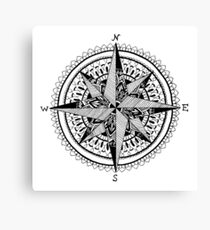 Black Compass Canvas Print