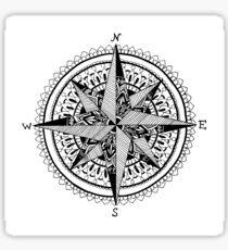 Black Compass Sticker