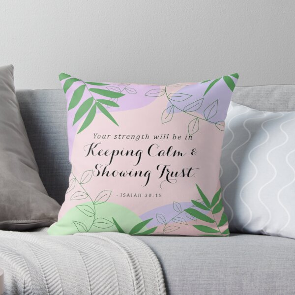 Yeartext 2021 - Pastel Nordic Design Throw Pillow